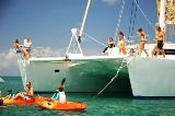 Voyage aux Seychelles croisière sur le catamaran Mojito un séjour organisés par une agence voyage spécialisée routedesseychelles.com